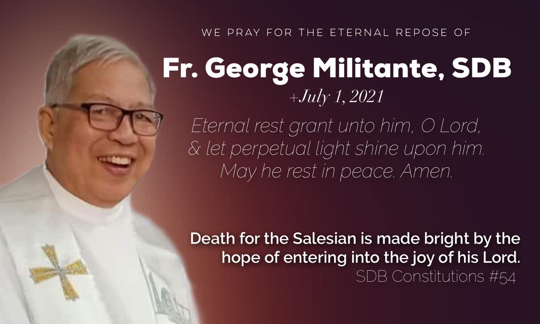 Thank you, Fr. George!